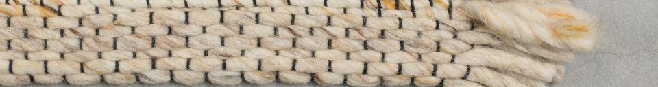 Mise en avant matière Tapis Frills 170X240 beige-jaune