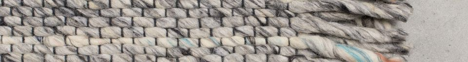 Mise en avant matière Tapis Frills 170X240 gris-bleu