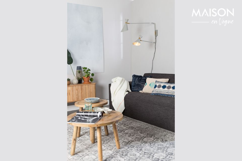 Conçu pour être ultra résistant aux tâches et à l\'usure, le tapis Malva est chez lui partout