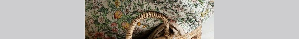 Mise en avant matière Tapis matelassé à fleurs Vaulx