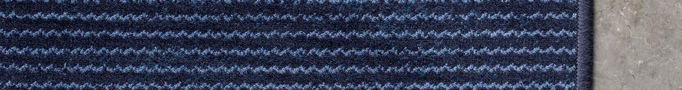 Mise en avant matière Tapis Obi 170X240 Bleu Profond