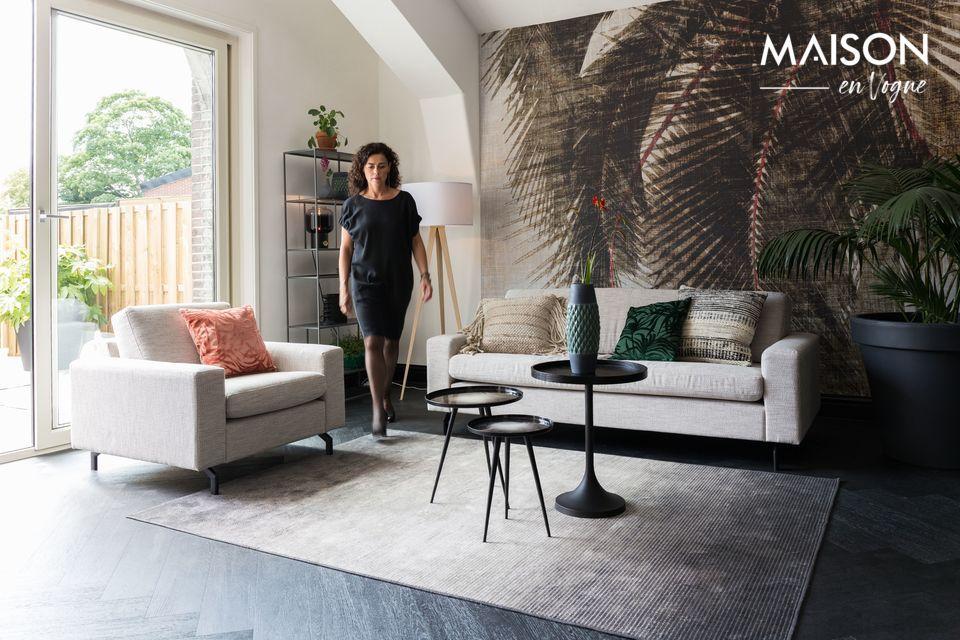 Un tapis confortable au design intriguant