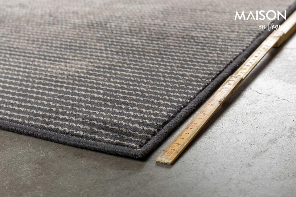 Le tapis Obi 170 X 240 gris ne révèle pas tous ses secrets au premier coup d\'œil