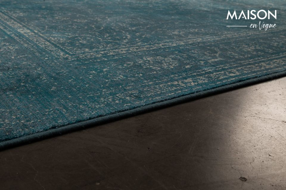 Tapis Rugged bleu - 4