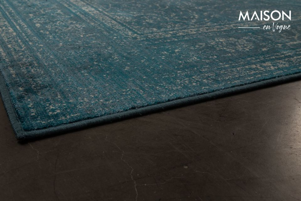 Tapis Rugged bleu - 5