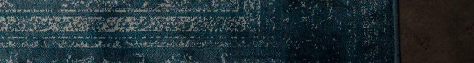 Mise en avant matière Tapis Rugged bleu