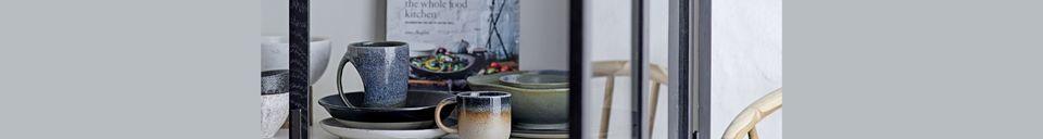 Mise en avant matière Tasse Aura en porcelaine