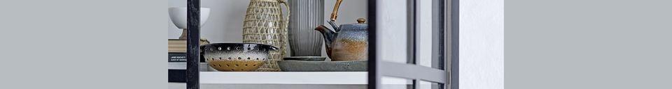 Mise en avant matière Théière Aura en porcelaine