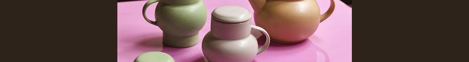 Mise en avant matière Théière bulle Alaigne en céramique