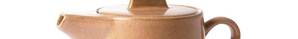 Mise en avant matière Théière en céramique 70's Stream