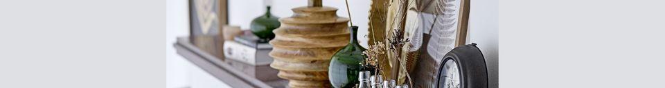 Mise en avant matière Vase Amazy vert en grès
