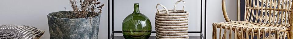 Mise en avant matière Vase Authon en verre