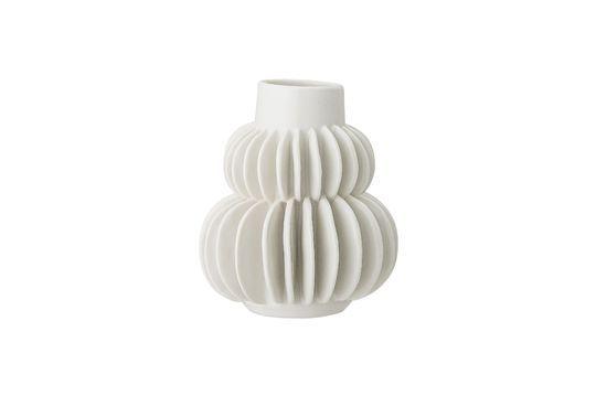 Vase Badaroux blanc en grès Détouré