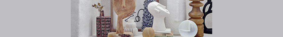 Mise en avant matière Vase Badaroux blanc en grès