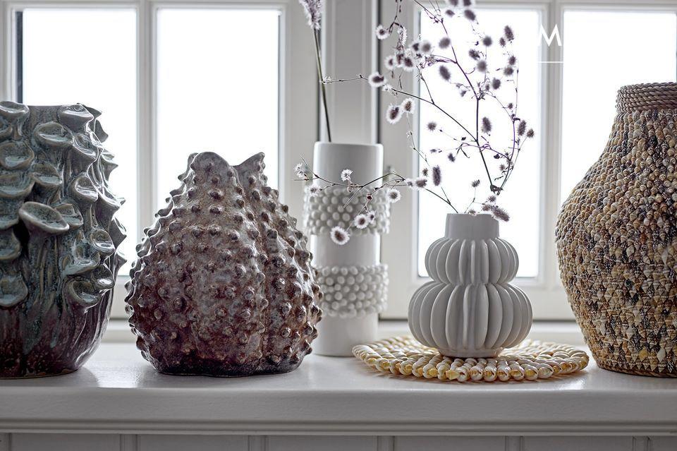 Vase Badaroux blanc en grès
