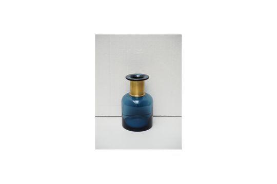 Vase bouteille Pharmacie bleue à col doré
