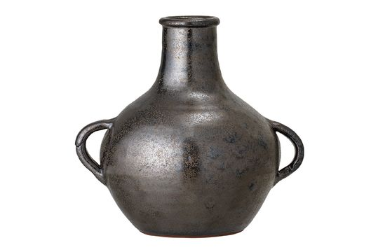Vase Calzan en terre cuite noire Détouré