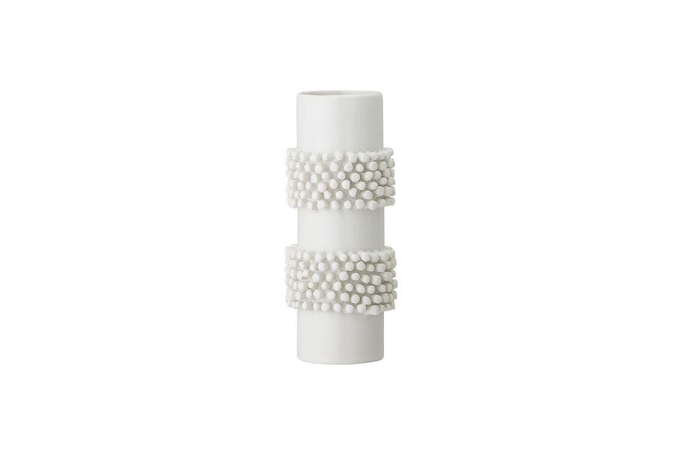 Vase Chémery blanc en grès
