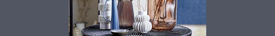 Mise en avant matière Vase Chémery blanc en grès
