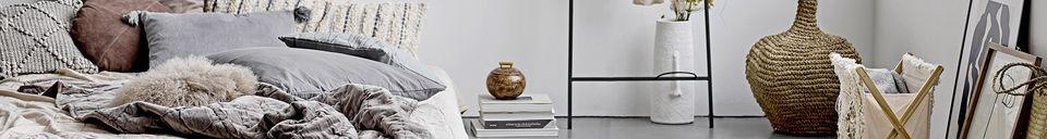 Mise en avant matière Vase décoratif Alban en terre cuite