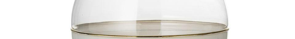 Mise en avant matière Vase Dôme en verre blanc