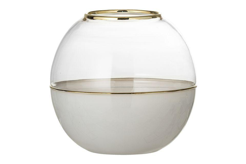 Vase Dôme en verre blanc Bloomingville
