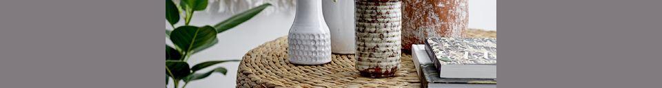 Mise en avant matière Vase en grès Thoissia