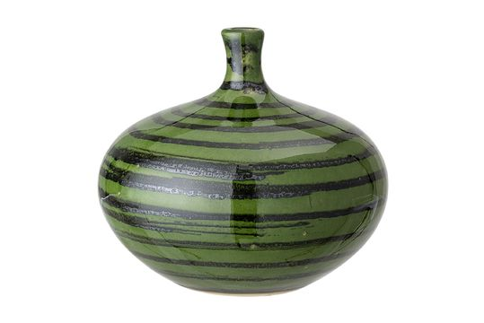 Vase Landroff en grès vert