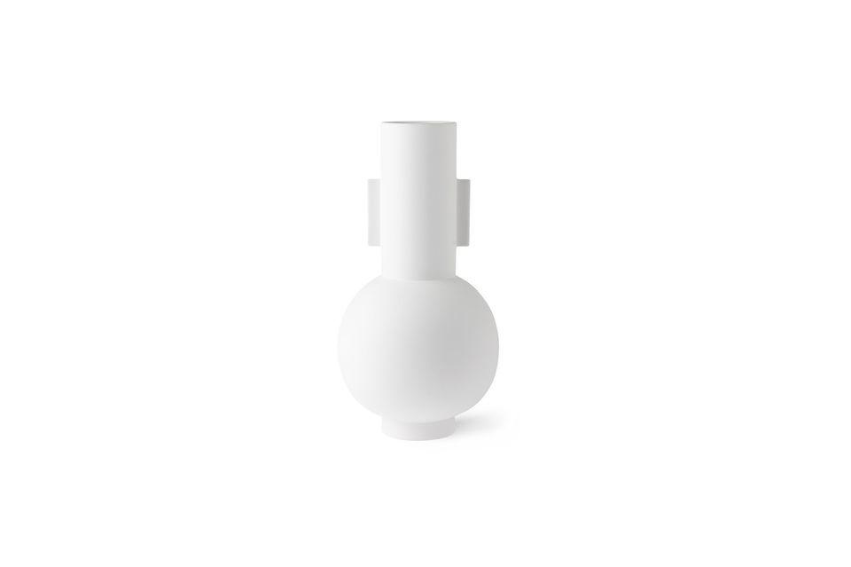 Vase Nesploy blanc mat taille L HK Living