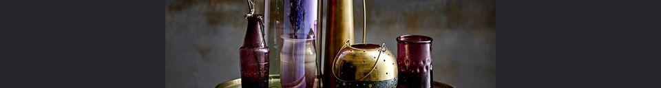 Mise en avant matière Vase Omicourt en métal doré