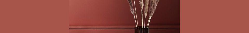 Mise en avant matière Vase Rill avec rainures