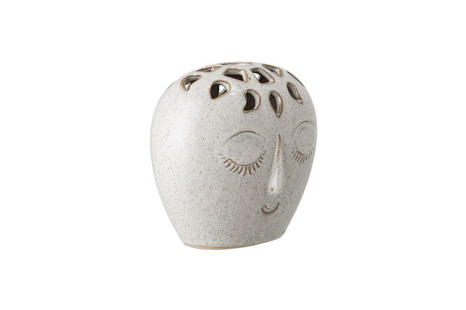 Vase Treigny blanc en grès