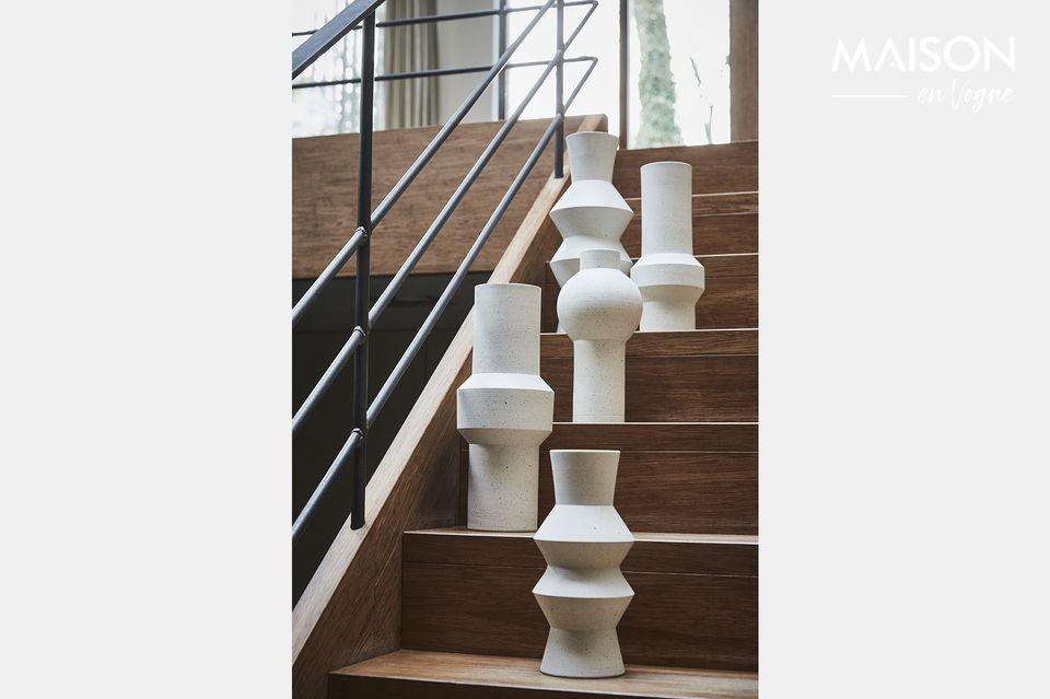 Vase Uberach en argile moucheté taille L HK Living