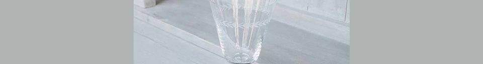 Mise en avant matière Verre à eau Laurier gravé