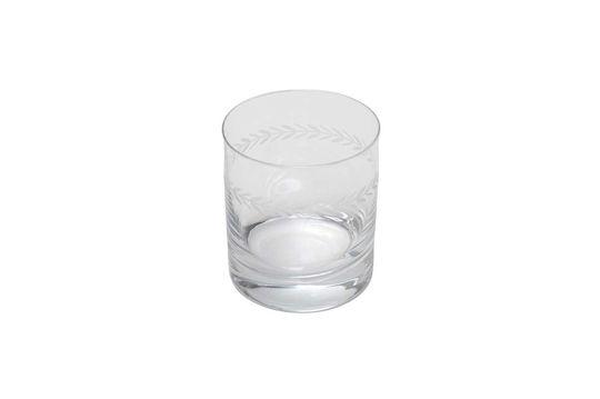 Verre à whisky Laurier gravé Détouré